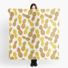 « Ananas Dorée Fruit Exotique » par LenysEcoHome | Redbubble Gold Pineapple, Golden Color, Curtains, Exotic Fruit, Headscarves, Blinds, Draping, Picture Window Treatments, Window Treatments