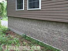 House underpinning ideas faux stone or rock veneer for Cheap home addition ideas