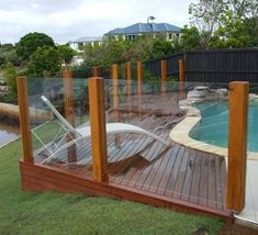 ideas for landscape timbers iLandscape :: Products :: Decking Around Pool - Alexander Landscapes . Fence Around Pool, Decks Around Pools, Pool Decks, Glass Pool Fencing, Glass Fence, Pool Fence, Pool Gates, Fence Garden, Glass Railing