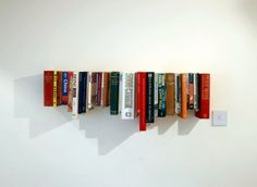 Book shelf made from old books: