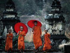 Novice Monks at Doi Kong Mu Temple, Mae Hong Son, Thailand