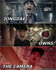 Chen owns the camera hahahaha | allkpop Meme Center