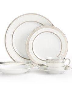 Lauren Ralph Lauren Dinnerware, Silk Ribbon Pearl Collection | macys.com