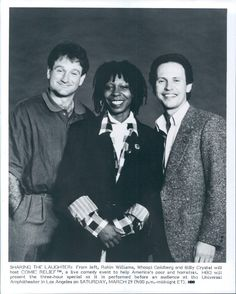 """""""Comic Relief"""" -- Robin Williams, Whoopi Goldberg, Billy Crystal -- Wire Photo"""