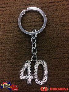 40-Diamante-Bling-Fashion-Keyring-Key-Chain-Ring-Birthday-Gift-Present