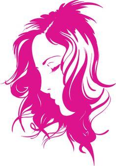 Beautiful Woman Silhouette   Items similar to Beautiful Peaceful Woman Silhouette Premium Removable ...