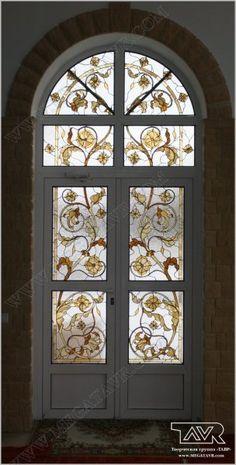 Двери с витражом - Двери с витражом, витражные двери