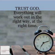 Jesus Bible, Right Time, Trust God, Alarm Clock, Everything, Encouragement, Faith, Christian, Workout