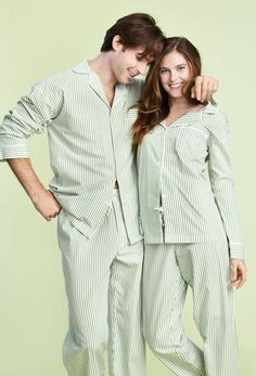 Bedhead Men's Green Pinstripe Classic Poplin Pajama Set $146 - SHOP http://www.thepajamacompany.com/store/product.php?productid=18726&cat=0&page=1