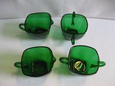 Creamers and Sugar Bowls Hocking Glass by hazeleyesartglassetc $36.99