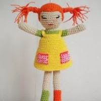 Amigurumi Pippi Longstocking - FREE Crochet Pattern / Tutorial