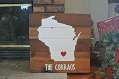 State Pride!!!  Get it in the state your heart belongs to!  Wisconsin Rustic Barn Board Sign by KACountryDecor on Etsy