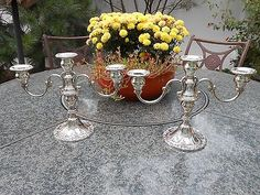 Vintage-Sterling-Pair-Gorham-Chantilly-Duchess-Candelabras-Vases-Candlesticks