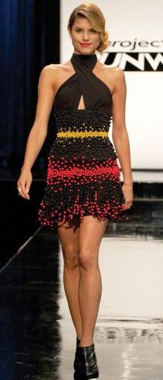 Dymitri's dress from project runway, this is candy!  No really, it is!