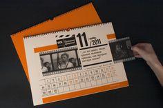 table Calendar  for Siberian Service Company  by Svetlana Sudakova, via Behance