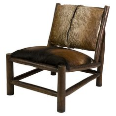 Pacino Cowhide and Teak Side Chair  at Joss and Main
