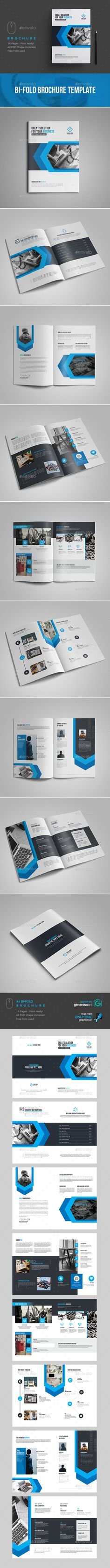 #Business #Brochure #Template - Brochures Print Templates Download here: https://graphicriver.net/item/business-brochure-template/19405304?ref=alena994