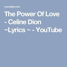 Lyrics power forward the power of love with lyrics by celine dion