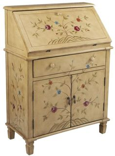 Secretary desk---love the floral painting