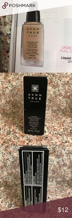 Avon true color foundation New liquid foundation color is natural beige Avon Makeup Foundation