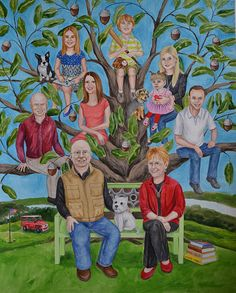 Family Tree for a couple's 50th wedding anniversary | Great 50th anniversary gift idea for parents or grandparents