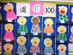 100th Day of School, the children create what they'll look like at age 100.