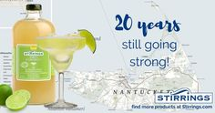 This year we are celebrating a milestone! 20 years ago we started in Nantucket with our award-winning margarita mix and are still going strong with real ingredients and no artificial preservatives! Allure Flooring, Margarita Mix, Brand Campaign, Nantucket, 20 Years, Preserves, Heavenly, Food And Drink, Strong