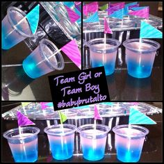 Pink and Blue Jello Shots Gender Reveal Party Fun