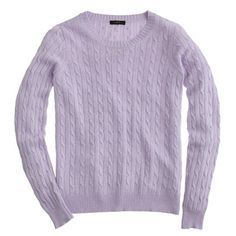 cambridge cable crewneck color: lilac size: small $88 and 30% off with code MONDAY