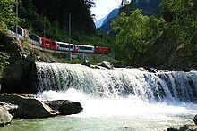 Glacier express to Zermatt, Switzerland. Coolest train ride ever! Chur, Glacier Express, Bernina Express, Switzerland Tourism, Europe Holidays, Old Trains, Train Journey, Zermatt, Swiss Alps