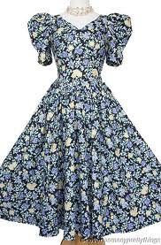 Vintage Laura Ashley- you know you owned a dress like this.