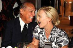 Oscar de la Renta and Charlize Theron, 2009