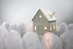 FLOATING HOUSE · cardboard lamp by Vera van Wolferen, via Behance
