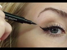 How-to do winged liner.  Eye shadow tips for this look start at 1:58, liner tips at about 4:00.