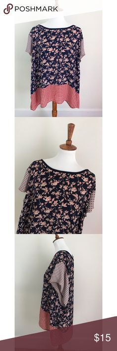 Cynthia Rowley plus size floral print blouse - Size 3X. - I don't trade, and I do not sell outside of posh. - I ship every single day!  - All items come from a smoke free home!  - If you have anymore questions just let me know and I would be happy to help! 🙂 Cynthia Rowley Tops Blouses