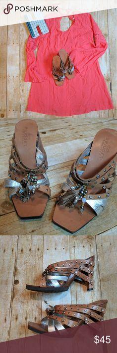 💥SALE💥 Bridget Shuster Heels Bridget Shuster Heels * Boho chic * Size 9.5 * Great condition * A bit of wear shown in pics Bridget Shuster Shoes Heels