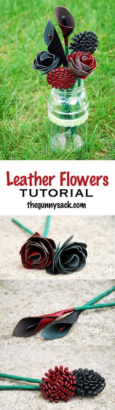 Leather Flowers Tutorial | Make a bouquet of leather roses and leather calla lilies!