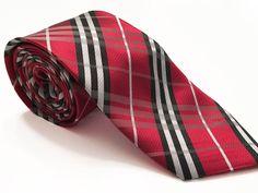 Red Black Plaid Tie   NupeTies.com