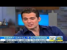 Henry Cavill Superman GMA Interview Man of Steel Interview on Good Morning America - YouTube.  A better version.
