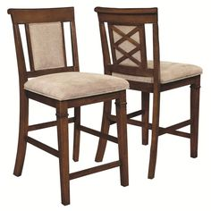 Bartlet X-design Distressed Walnut Counter Height Dining Stools (Set of 2)