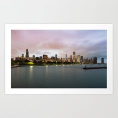 Chicago Skyline Art Print by