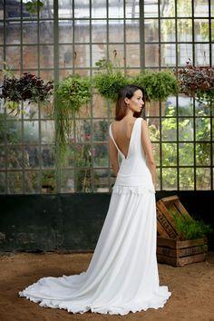 Vestidos escote espalda novia