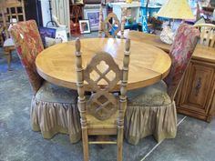 Darling Country French table with mismatched chairs