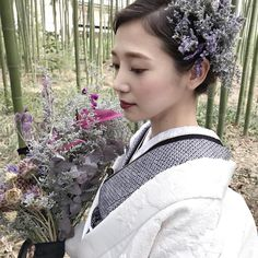 For The Horde, Strange Music, White Kimono, Wedding Kimono, Japanese Hairstyle, Headdress, Wedding Hairstyles, Marriage, Bridal
