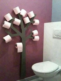 wc decor... will be nice with color paper, no?