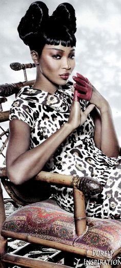 Naomi Campbell, Fashion Icon, Tom Munro, Photographer, Vogue Russia | Purely Inspiration