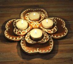 Toinen versio piparista ja kynttilästä.- by Malla -- Piparkakku, Joulu, Gingerbread, Christmas