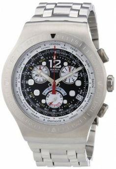 Relógio Swatch Men's STYOS414G SS2007 Black Dial Watch #Relogio #Swatch