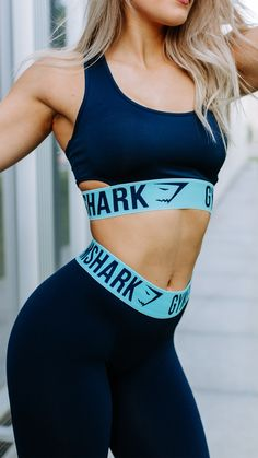 We love a good match. Whitney Simmons styling the new Fit Sports Bra in Sapphire Blue and Marine Blue.