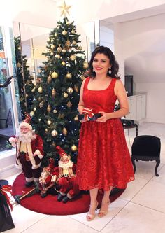 Look de Natal  #christmas #xmas #dress #red #look